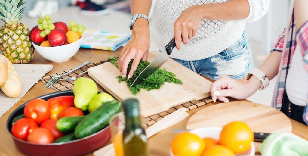 preparing meal healthy